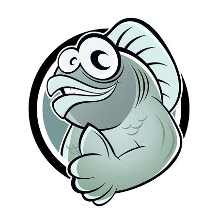 cheerful cartoon: peces divertidos dibujos animados