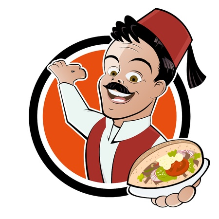 turkish kebab: funny doner food cartoon