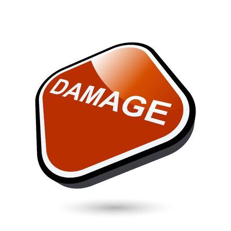 modern damage sign Vector