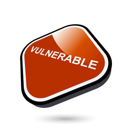 vulnerable: modern vulnerable sign Illustration