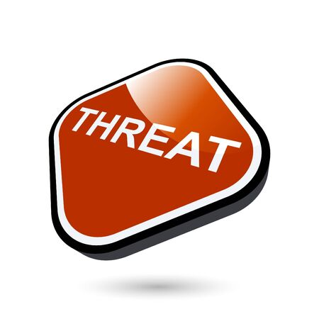 threat: modern threat sign Illustration