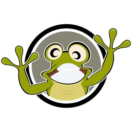 funny: funny cartoon frog
