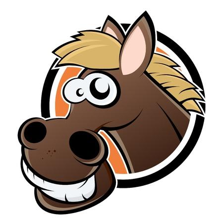 paardenhoofd: grappige cartoon paard