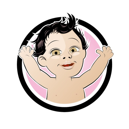 funny cartoon baby Stock Vector - 12456174