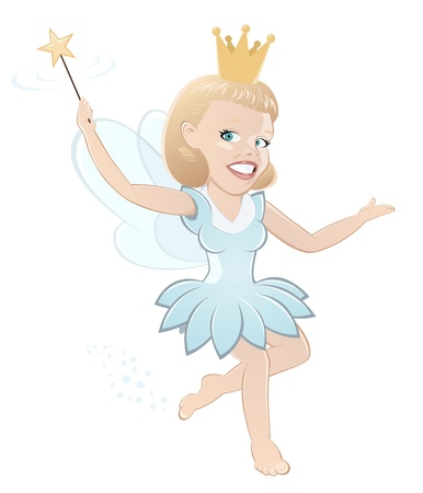 funny cartoon fairy Vector