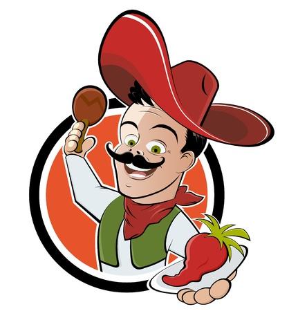 grappige cartoon mexican