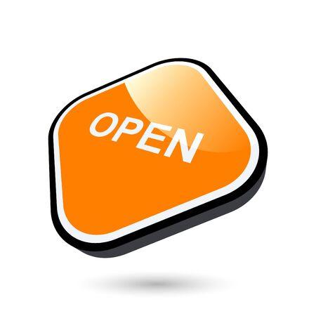unlocked: modern open sign
