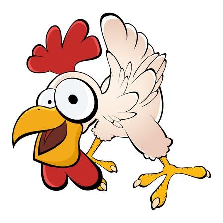 pollo caricatura: pollo divertido de la historieta