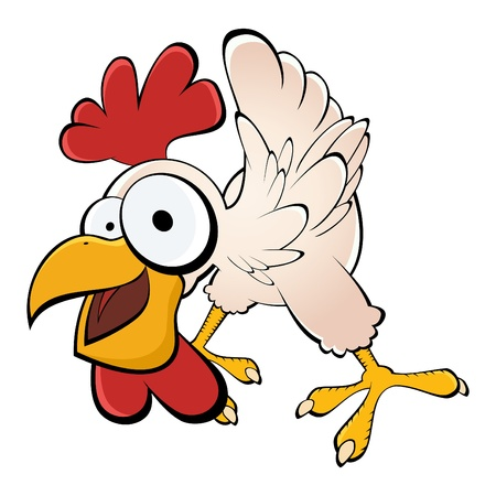 animal cock: pollo divertido de la historieta