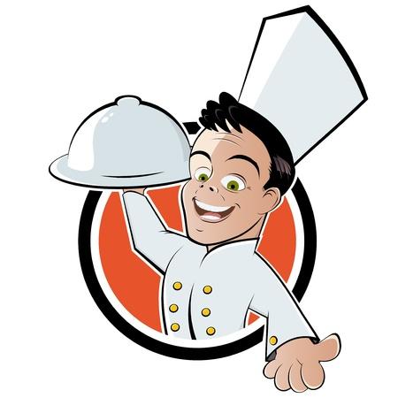 grappige cartoon chef-kok