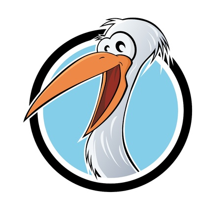 funny cartoon stork Vector