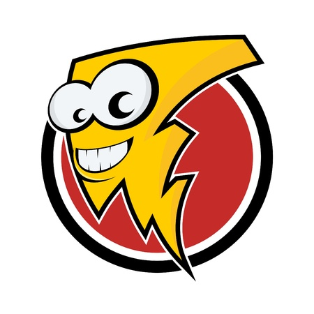 funny cartoon lightning Vector