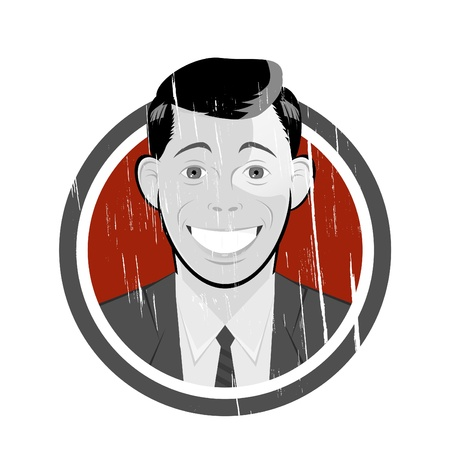 vintage retro cartoon man