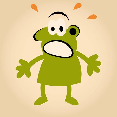 funny cartoon man is afraid Stock Vector - 13197769