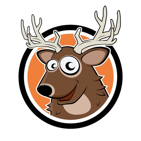 deer head: funny cartoon deer