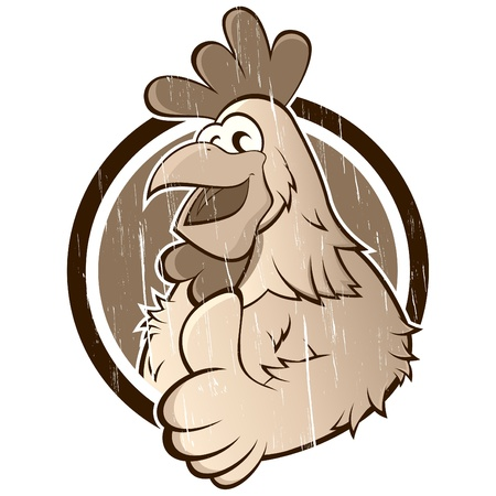 vintage cartoon chicken Stock Vector - 13952325