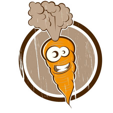 vintage carrot in a badge Vector