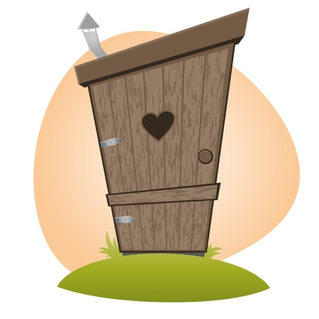 funny cartoon toilet Vector