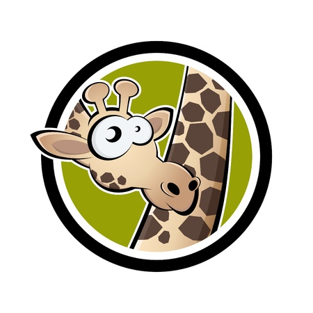 cartoon giraffe in a badge Stock Vector - 13952280