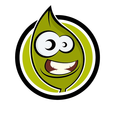 funny cartoon plant in a badge Stock Vector - 13951982