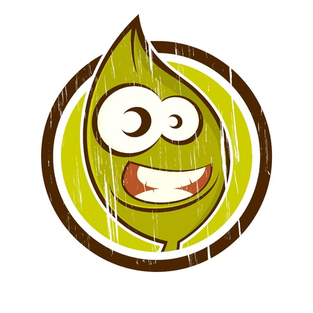 vintage cartoon plant in a badge Stock Vector - 13952331