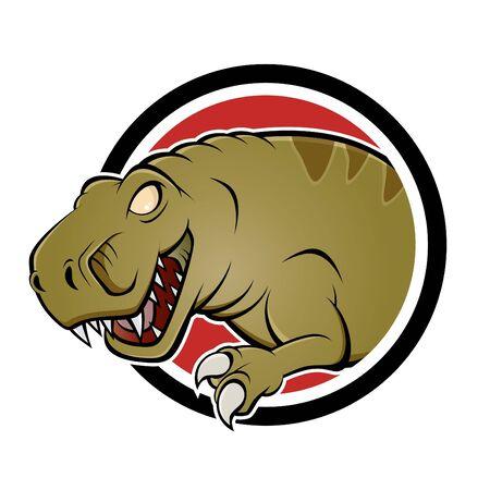 tiranosaurio rex: de dibujos animados signo de dinosaurio