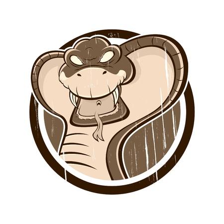 cobra snake: vintage cobra sign Illustration