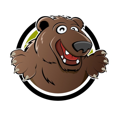 happy brown bear Vector