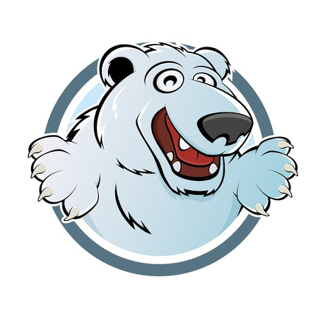 happy ice bear Vector