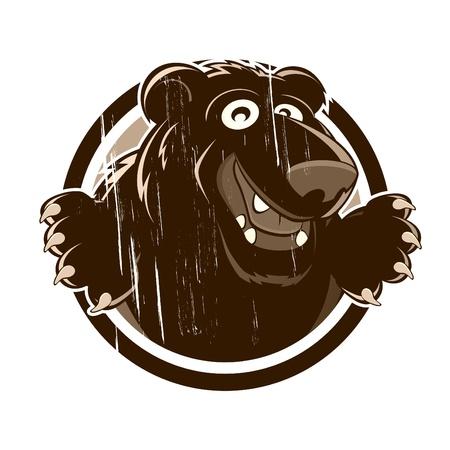 osito caricatura: oso de dibujos animados de �poca