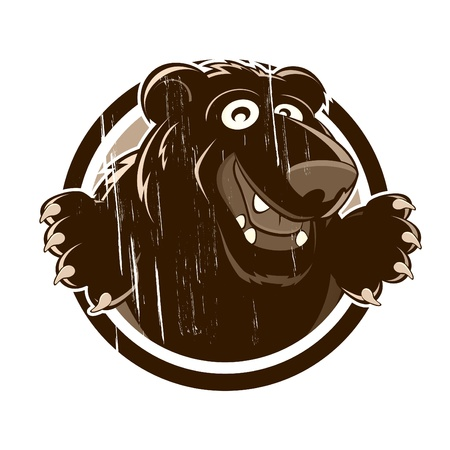 vintage cartoon bear Vector