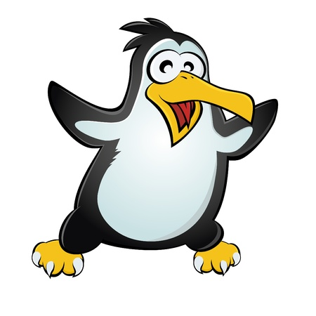 happy cartoon penguin Vector