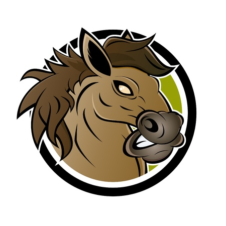 angry cartoon: angry cartoon horse