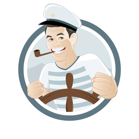 cartoon sailor sign Illustration