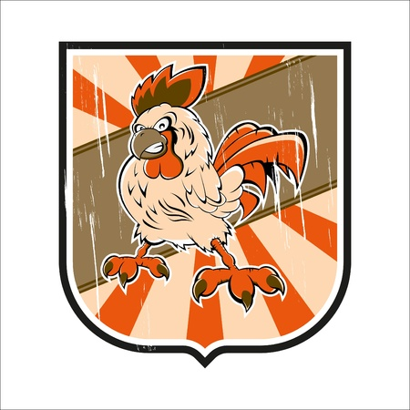 angry rooster crest Vector