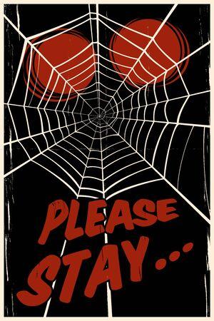 spider' s web: creepy spider s web background Stock Photo