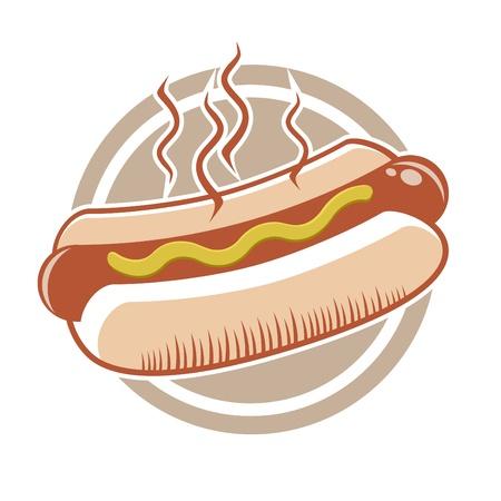 perro caliente: perro caliente en una placa