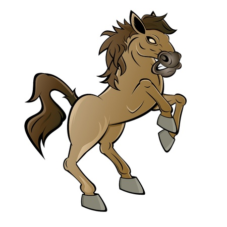 rearing horse cartoon Stock Vector - 15807295