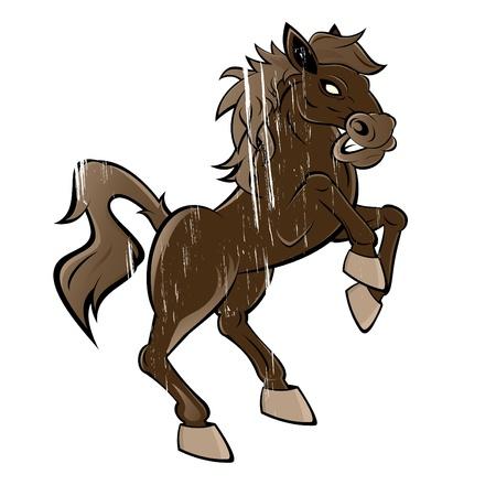 rearing: vintage rearing horse