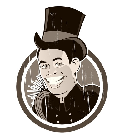 vintage chimney sweeper Vector