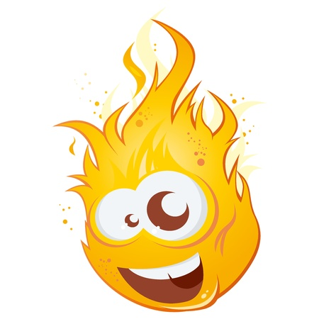 funny cartoon flame Stock Vector - 16002406