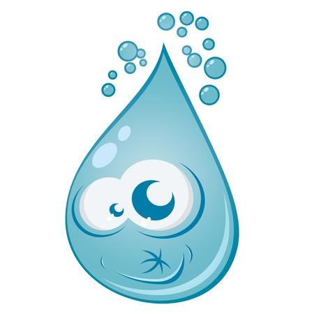 water drop cartoon Stock Vector - 16002411
