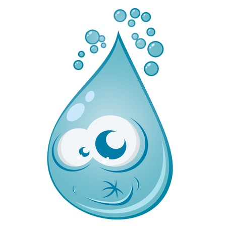 amuse: water drop cartoon