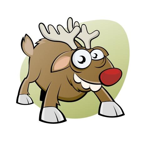 christmas motif: funny christmas reindeer