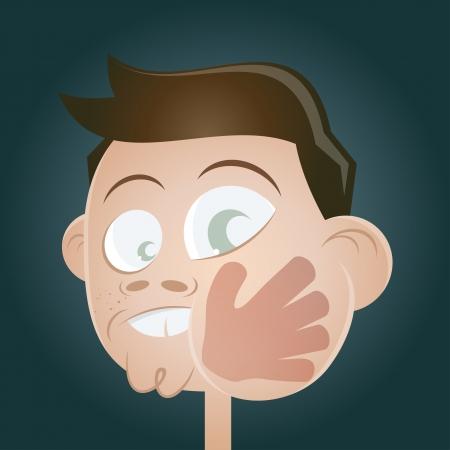 swollen: slap in the face