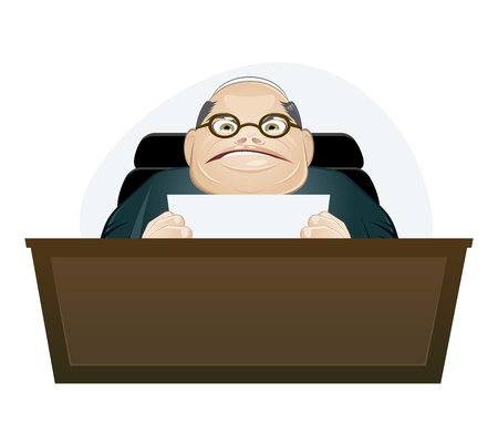 angry boss: angry boss cartoon Illustration