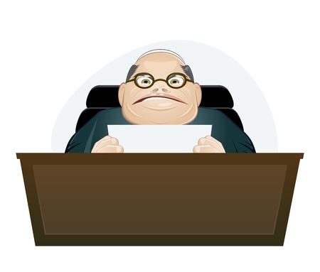 felügyelő: dühös főnök rajzfilm Illusztráció