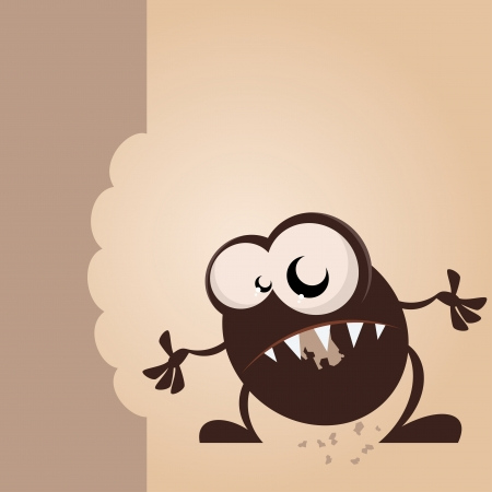 greedy cartoon monster Stock Vector - 17841263