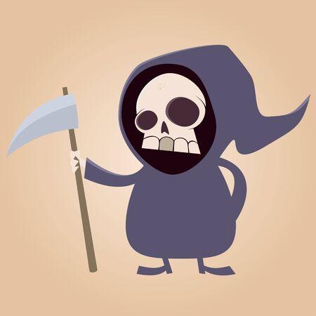 grim reaper: cute grim reaper Illustration