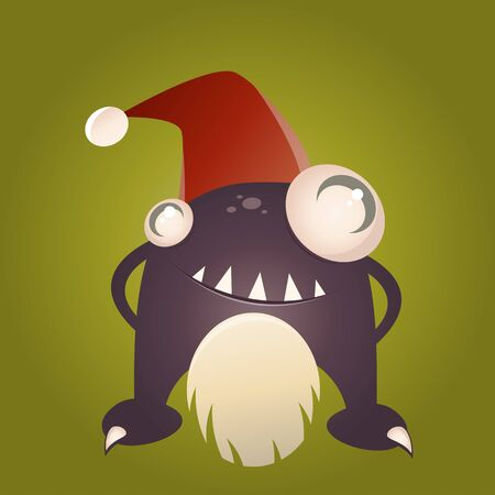 funny xmas monster Stock Vector - 17841362
